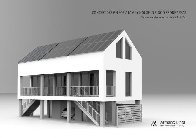 stilt house for flood prone areas armano linta